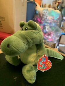 "Ty CHOMPY -Dark Green Alligator 6"" MWNMTs Beanie Baby 2.0! *Retired* RARE & HTF"