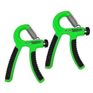 2 x Adjustable hand power grip exerciser 10-40kg forearm strength trainer