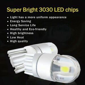 1X-2pcs-W5W-T10-2-SMD-3030-LED-Bulbs-Super-Bright-White-For-Car-Exterior-Da-4K5