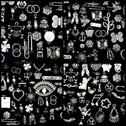 50g Mezclados Encantos Perlas de Plata Tibetana Fabricación de Joyas Artesanía Mezcla vendedor del Reino Unido G61