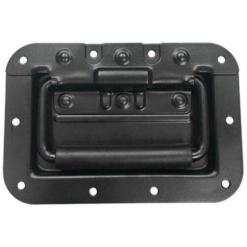 Black Mid-Size Recessed Spring Loaded Handle for PA//DJ Speaker Cabinet Rack