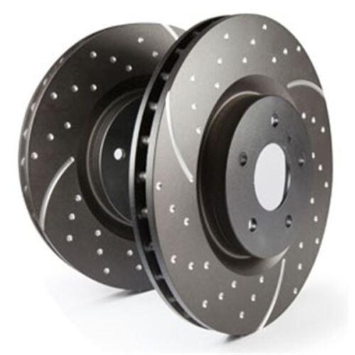 1.3 EBC Turbo Groove Disc Bremsscheibe Black HA auch für Ford Escort VI GAL 1.