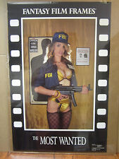 """vintage """" The Most wanted"""" Poster fantasy film frames 1990 5287"""