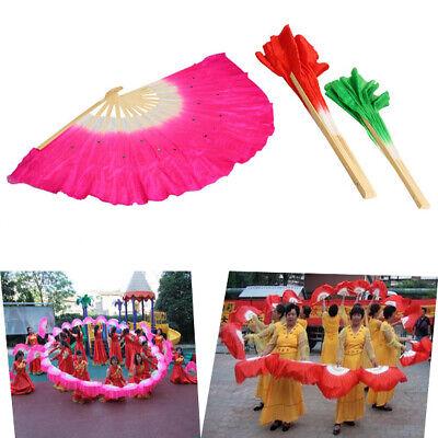 Chinese Folk Art Silk Veil Bamboo Short Dancing Fan Dancing Fans for Belly Dance