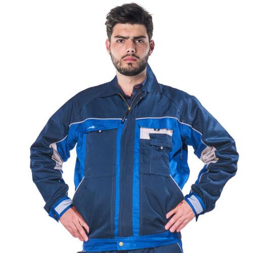 Arbeitsjacke Berufsjacke Bundjacke Schutzjacke Baujacke Baumwolle Blau ALVIN-J