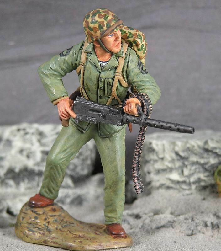 März durch Mal Zweiter Weltkrieg Pazifik AMH-03 U.S.Marine John Basilone MIB
