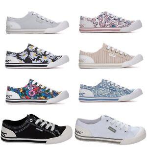 Womens-Rocket-Dog-Jazzin-8A-Eden-Flower-Canvas-Pumps-Trainers-various-Colours