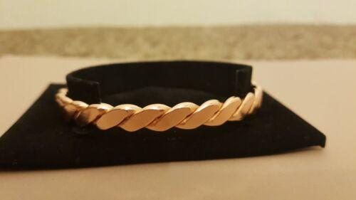 Copper Bangle Twisted Design