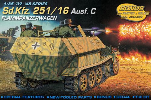 KIT DRAGON 1 35 CARRO ARMATO Sd.kfz.251 16 Ausf.C FLAMMPANZERWAGEN   ART.6202