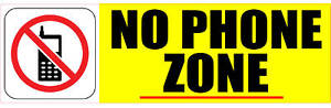 NO (CELL) PHONE ZONE STICKER