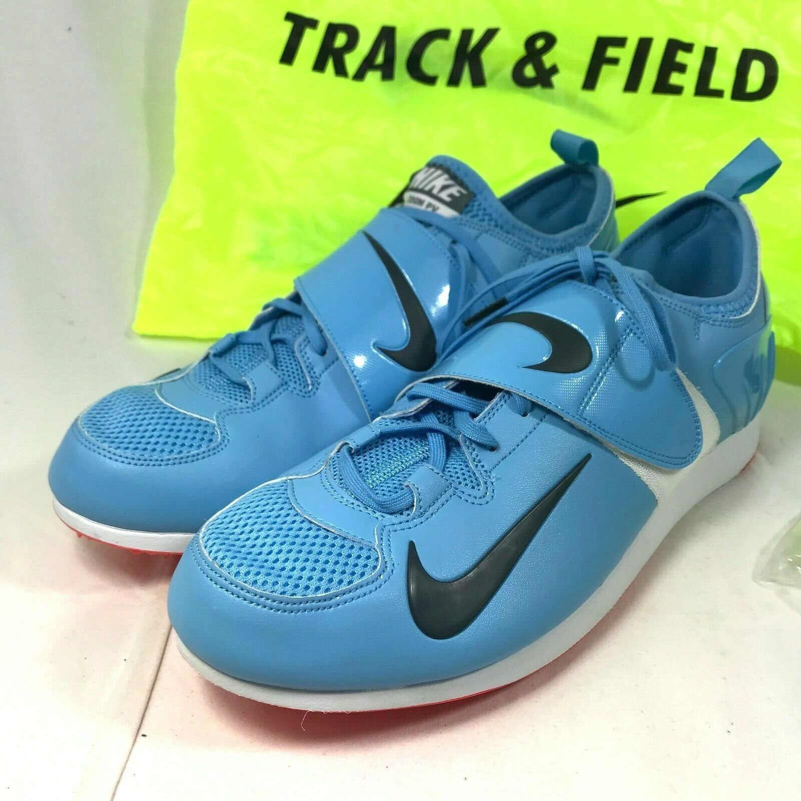 Nike Zoom Pro PV Pole Vaulting Track shoes Size 12 UNC bluee White 317404-446