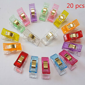 20pcs Plastic Quilter Holding Wonder Clips Quilt Binding Sewing Accessories NEW