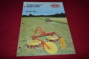 Vicon RC 300 330 Tedder Rakes Dealers Brochure BWPA