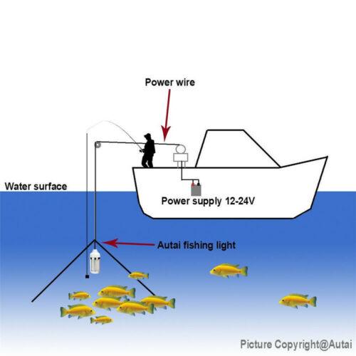 Unterwasserfischen-Licht Nachtangeln Fischenlicht Angeln Licht Lampe