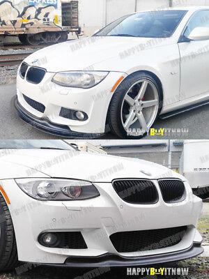 MATTE BLACK PAINTED 10-12 BMW E92 LCI M-SPORT A K FRONT BUMPER LIP SPOILER