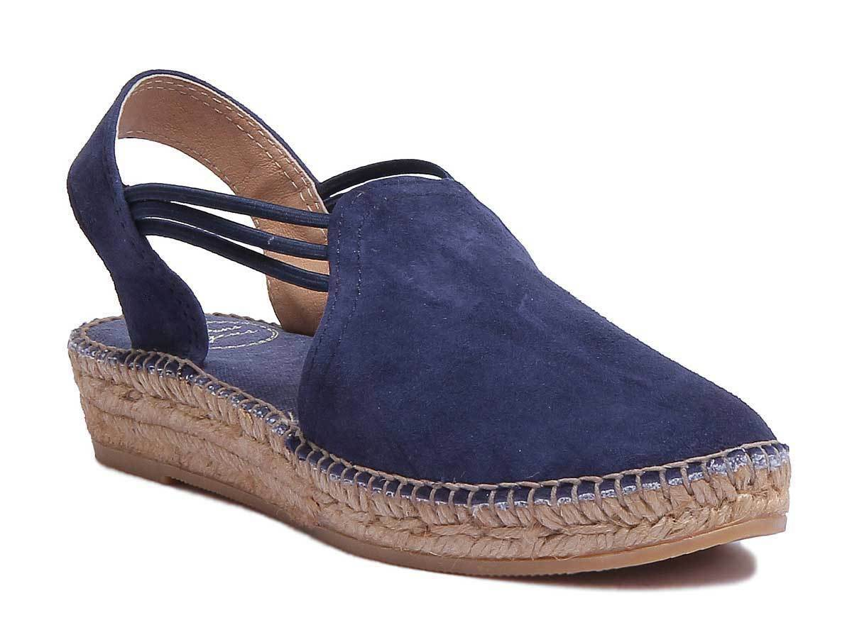 Tony Pons Nuria Womens Navy Suede Leather Espardrilles Size UK 3 - 8