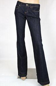 595-New-Authentic-Gucci-Womens-70-039-s-Dark-Blue-Denim-Pants-338501-XD212-4100