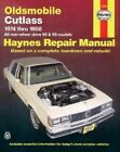 Oldsmobile Cutlass 1974-88 Owner's Workshop Manual by Scott Mauck (Paperback, 1988)