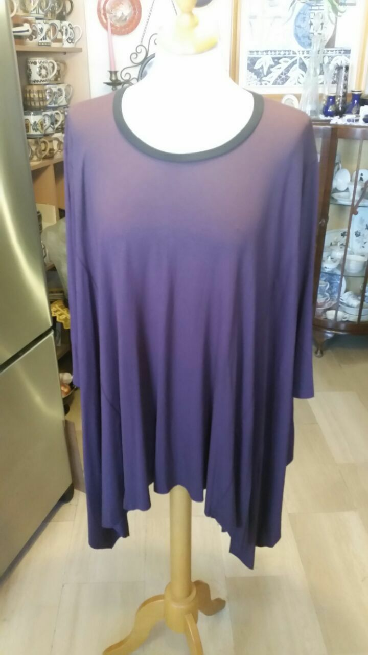ALEMBIKA NWT Wide  lila Wide Top  Tunic -OZ (0151)