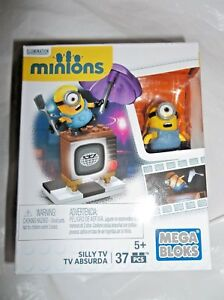 MEGA-BLOKS-MINIONS-SILLY-TV-37-PIECES-DATED-2015