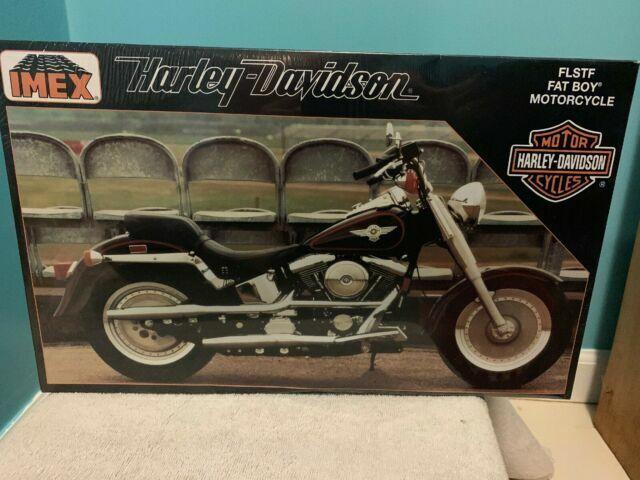 Harley Davidson Motorcycle Flstf Fat Boy 1 9 Scale Model Imex Italy Bags For Sale Online Ebay