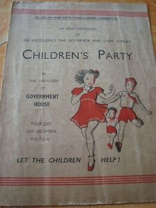 Old Vintage Children Party Advertisement Pamphlet from India 1933