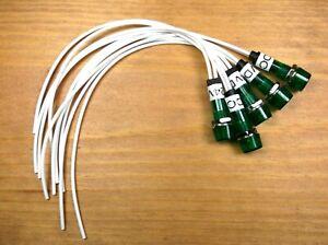 5 BBT 12 volt Amber Low-Profile LED Indicator Lights