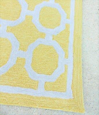 Liora Manne 8 Square Area Rug Yellow Geometric Tile Indoor Outdoor Espana
