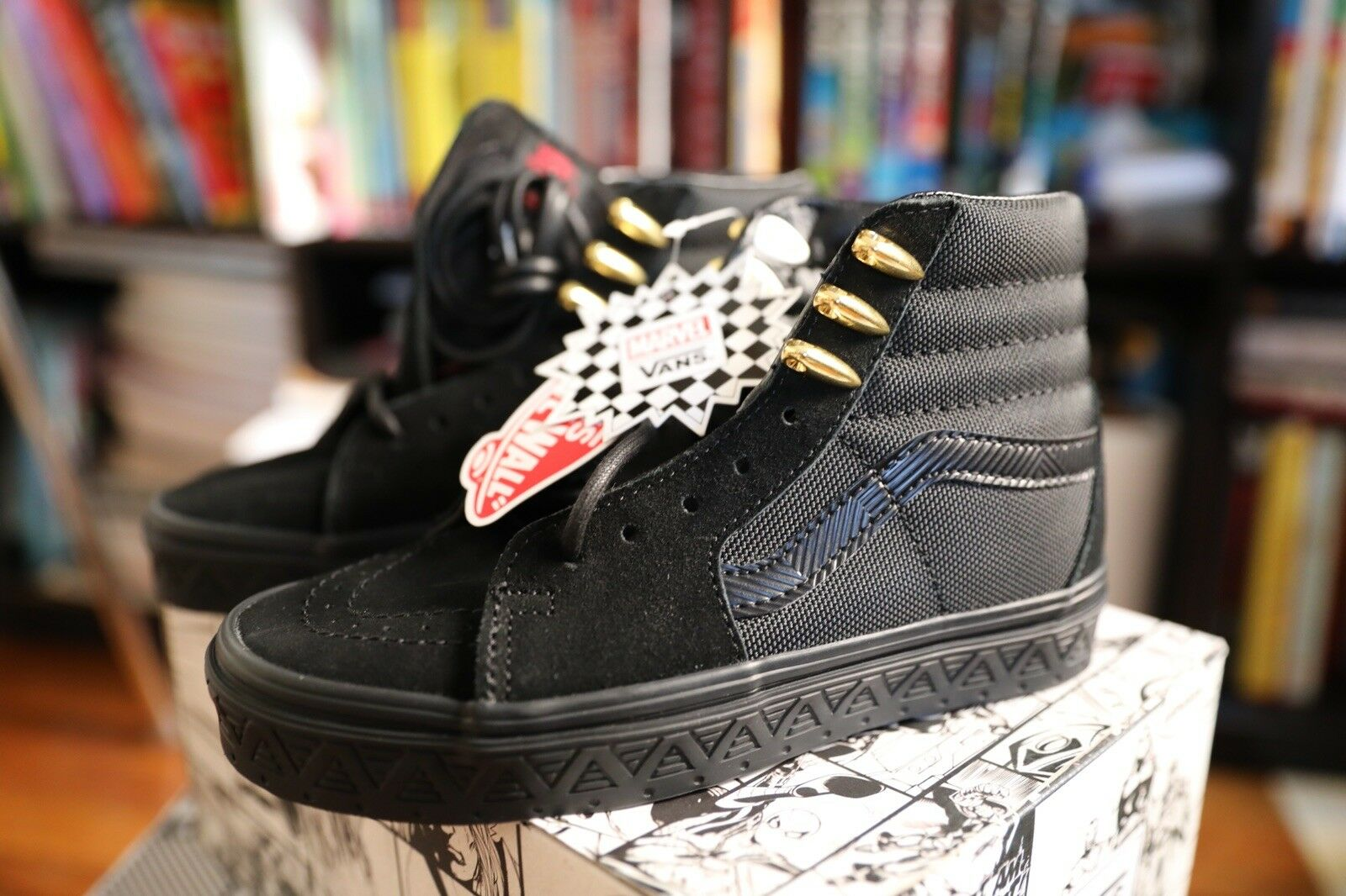 Marvel Vans Black Panther Sk8 Size 4.5 BOYS. Women's 6.0