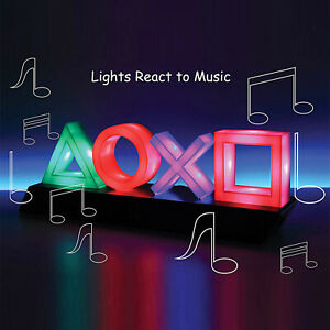 Playstation Voice Control Game Icon Licht Acryl Atmosphäre Neon Ornament LED #DE