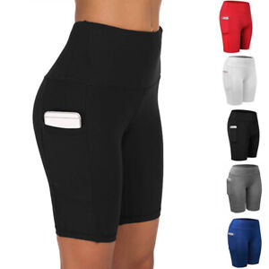 Women-Compression-Sport-Shorts-Leggings-With-Pocket-Running-Exercise-Tight-Pants