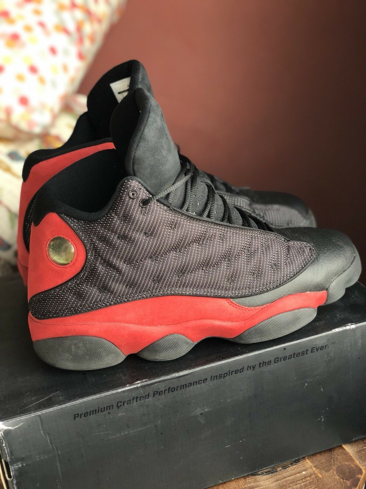 hot sales 9a087 14cbb Nike Air Jordan 13 13 13 Bred 13 Shoes - Size 12 - Slightly Used With