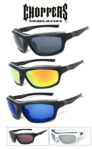 Choppers 928 Padded Foam Wind Resistant Sunglasses Motorcycle Glasses UV Protect
