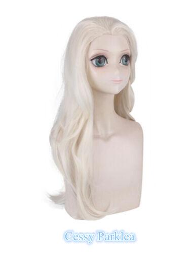I1 Frozen 2 Elsa Adult Wig Long Wavy Hair Women Book Week Costume Accessory