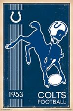 """Indianapolis Colts Retro Logo  NFL poster 22.5 x 34"""""""