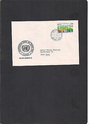 Siehe Scan Rheuma Lindern SchöN Uno Genf Dienstbrief Vom 18.03.1985 Echt Gelaufen Briefmarken