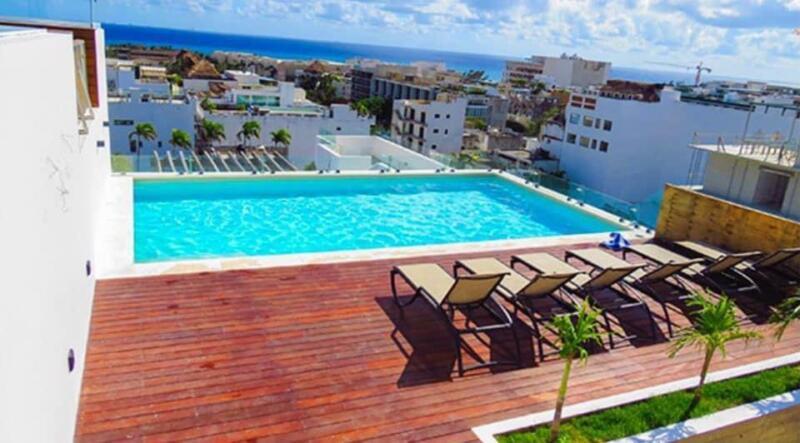 Estudio en Venta Centro de Playa del Carmen Rooftop Vista al Mar