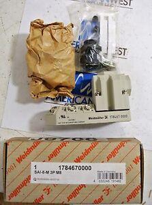 Details about New Weidmuller 1784670000 SAI-8-M 3P M8 Distributor Block