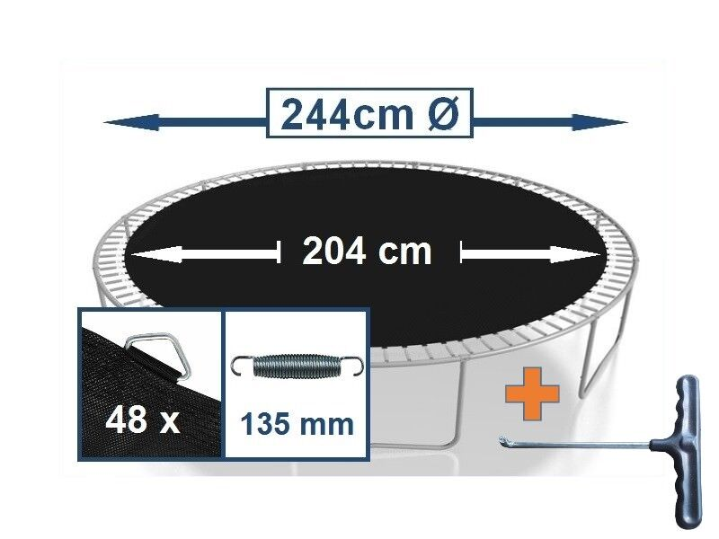 Ersatzteile für Trampolin Ø244 305 366 396 396 396 430 457 Randabdeckung Sicherheitsnetz 881757