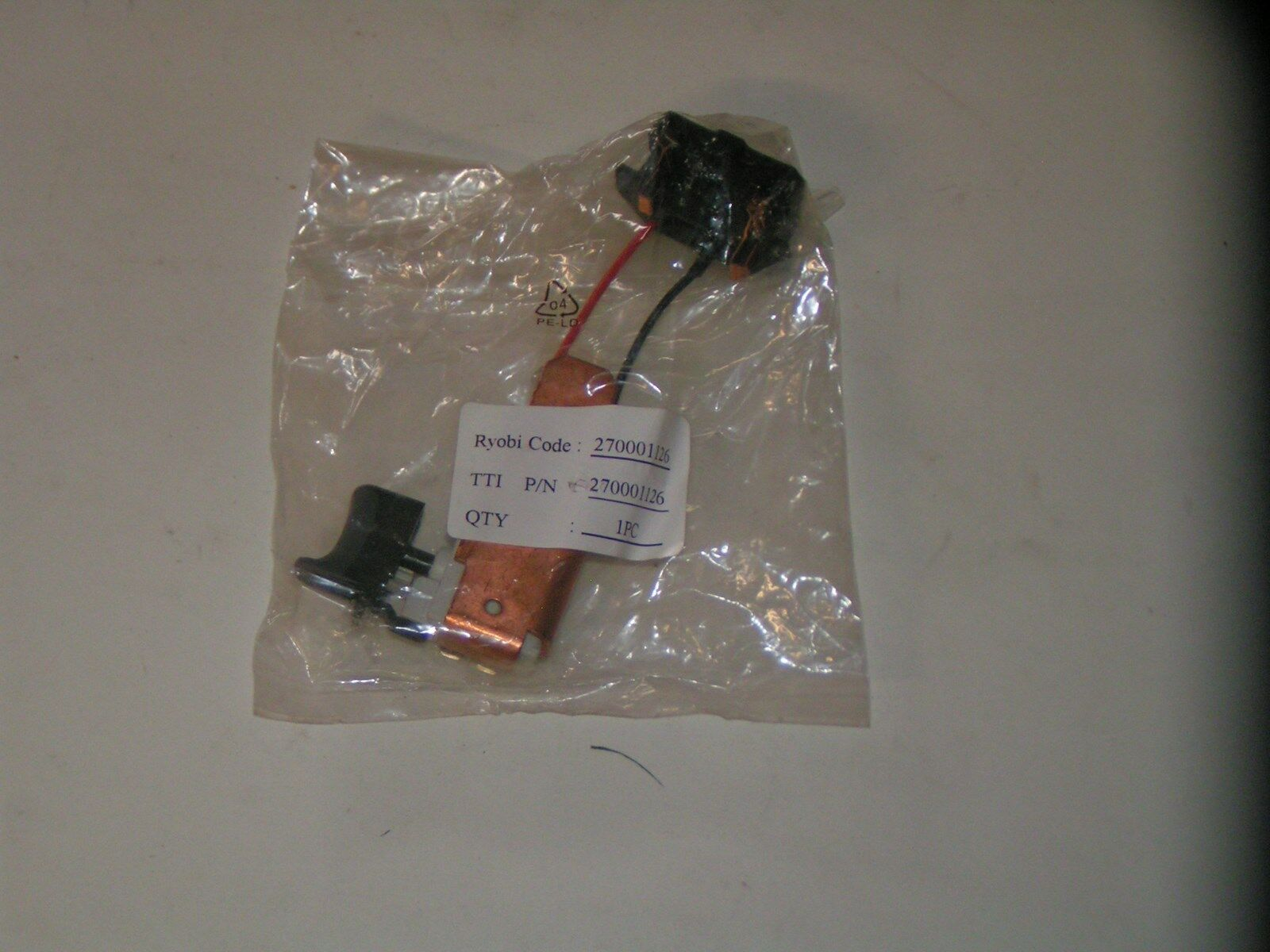 RIDGID ELECTRIC TOOL TRIGGER SWITCH ASSY - OEM  270001126 - NEW OEM SERVICE PART