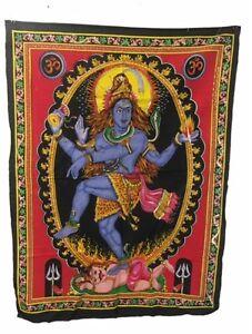 Large-Indian-Shiva-Wallhanging-fabric-Sequin-ethnic-indian-hippy-boho-deco-Nepal