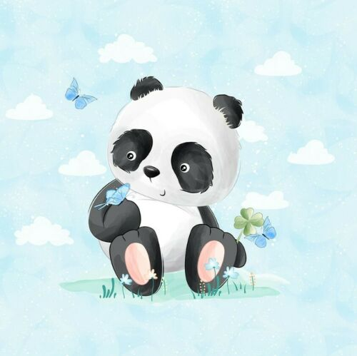 Schmetterling 40x50cm Stoff Panele Sweat French Terry Sommersweat süßer Panda m