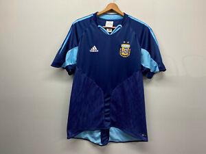 Argentina vtg 2004 away Adidas soccer Jersey Men's Medium AFA Mesh Blue y2k