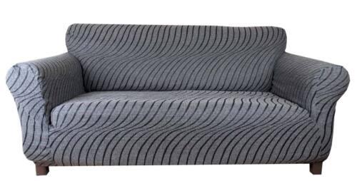 Grigio Perla Elástico Slip cubierta del sofá 1 2 3 Asientos Wave