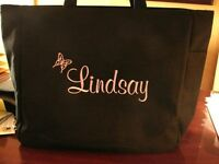 4 Bride WEDDING TOTE Bag BRIDESMAID PERSONALIZED BRIDAL BUTTERFLY  gift