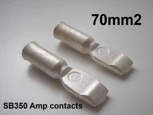 PAIR 350 AMP 70mm2 ANDERSON CONNECTOR CABLE TERMINALS 2 x CONTACTS 2//0 AWG