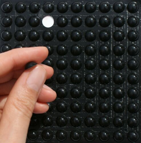 Black 3M RUBBER FEET ~ 10mm x 4mm ~ Small SELFADHESIVE Stoppers Silicone BUMPONS