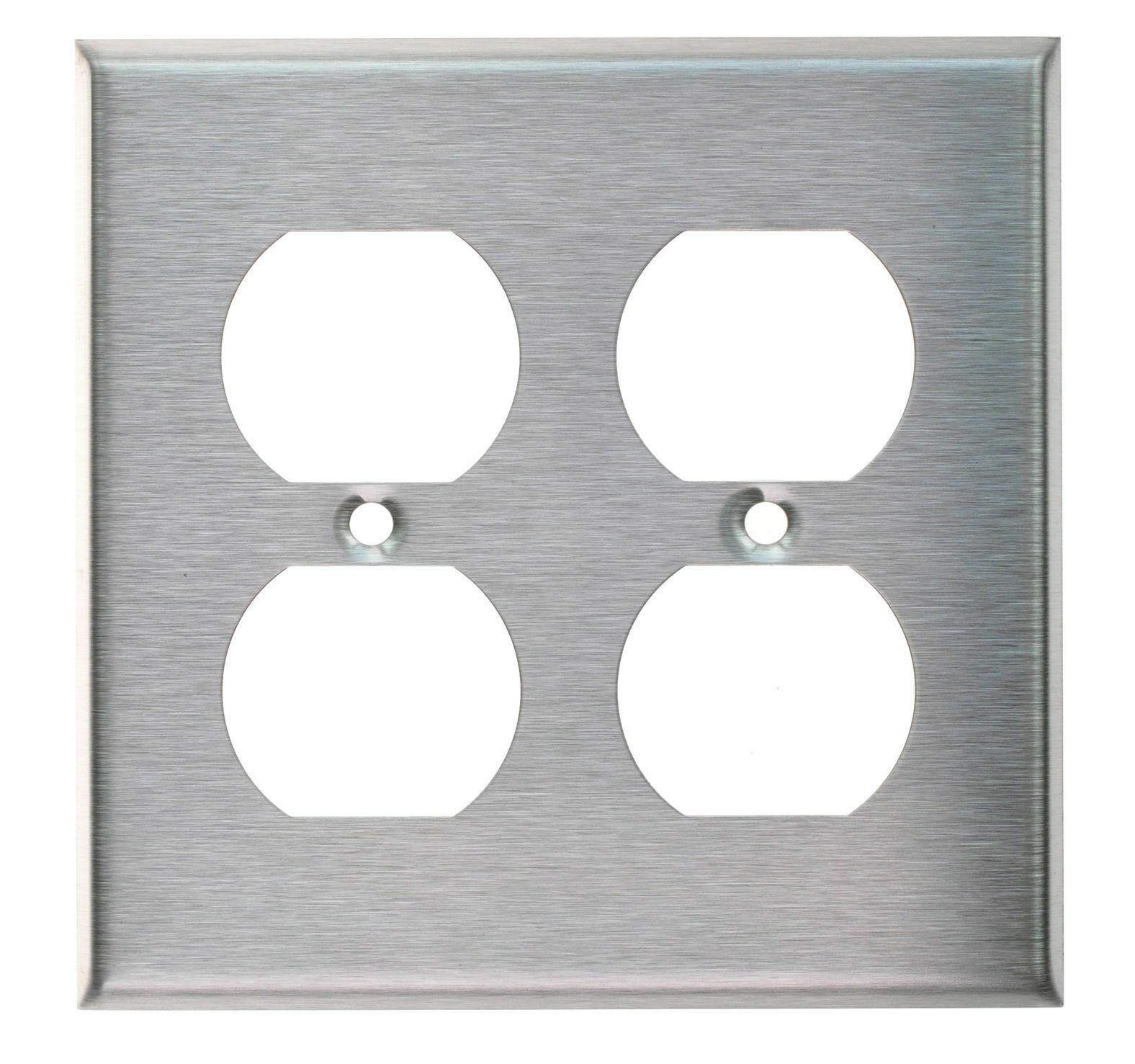 Brushed Stainless Steel Outlet Cover Duplex Metal Wall