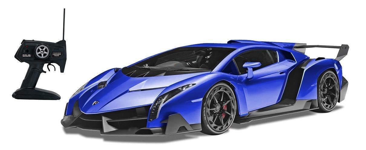 NEW Happinet 1 10 RC Lamborghini Veneno blu Keram 40Mhz 50cm from Japan F S
