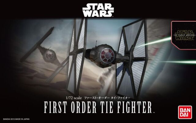 Bandai 1/72 Model Kit Star Wars  First Order Tie Fighter The Force Awakens
